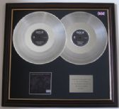 JAY-Z - THE BLACK ALBUM - Original vinyl  double platinum disc and cover presentation -